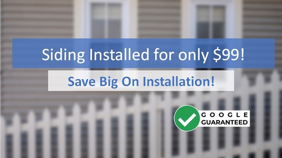 Don't Delay! Get Siding Installed for $99