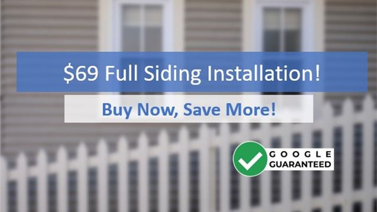 Save Huge Upfront with $69 Siding Install Special