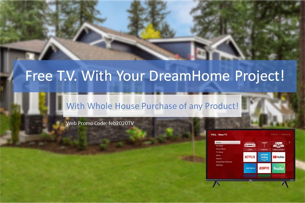 Enjoy a Free TV This Month With Your Home Project!
