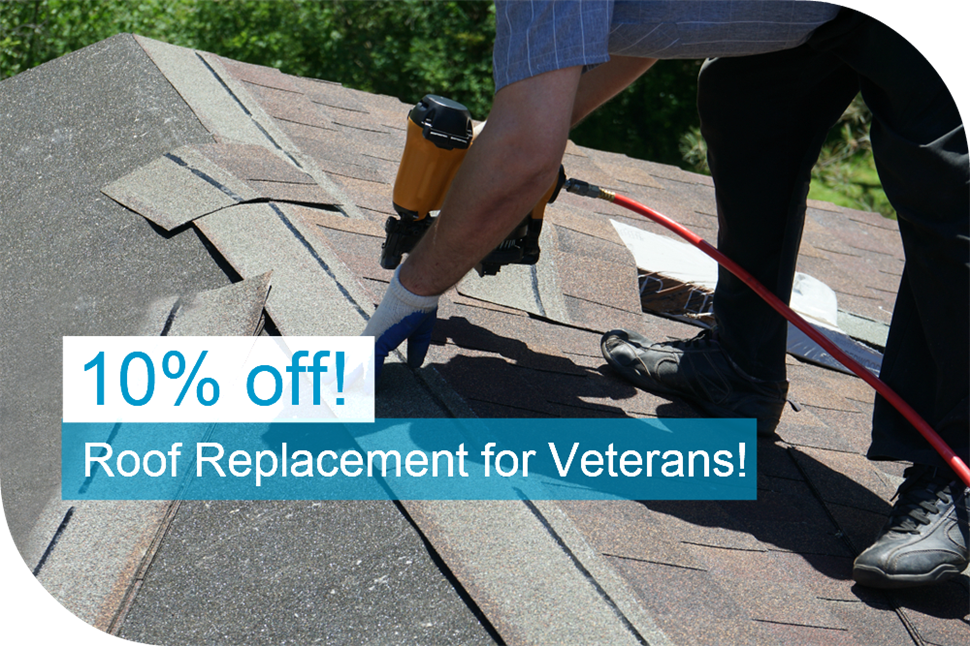 10% OFF Roofing Military Discount
