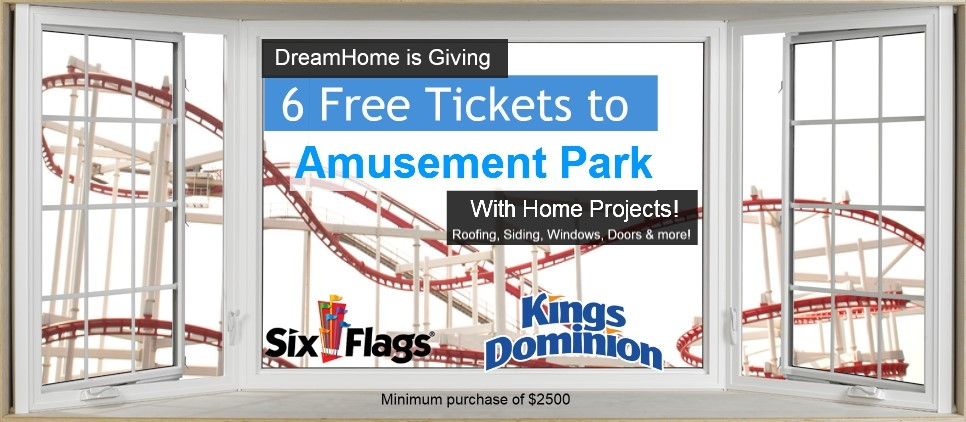 6 Free Amusement Park Tickets with Home Projects!