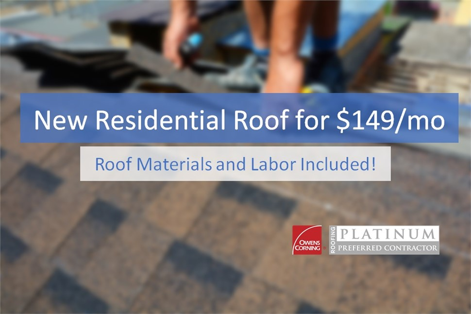 Roof & Installation Starting at $149/MO!