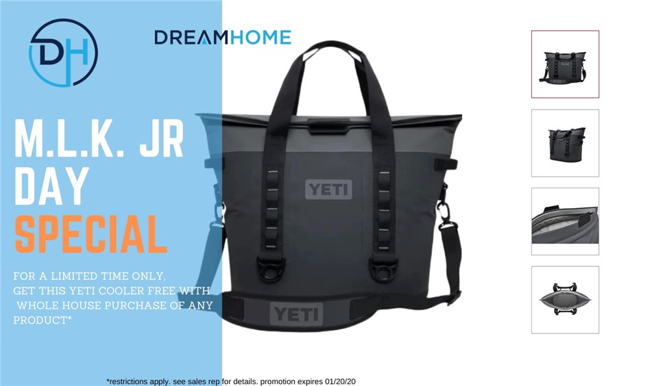 Enjoy a Free Yeti Cooler This Month With Your Home Project!