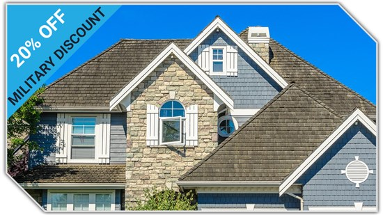 20% OFF Roofing Military Discount