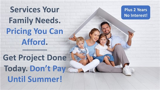 Get Project Done Now but Don't Pay Until Summer!