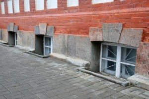 basement windows on the sidewalk