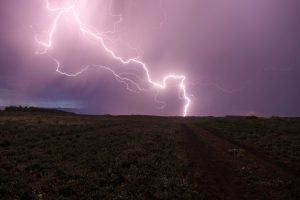 lightning in the middle of a field