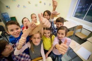 elementary school children in classroom