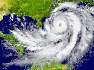 satellite picture of massive hurricane over florida