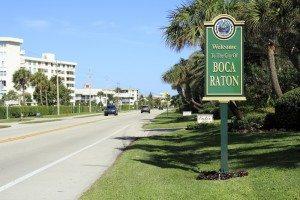 welcome to boca raton florida sign