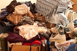 messy pile of items