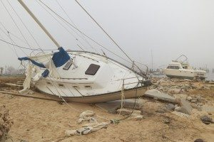 damage to boats caused by a hurricane