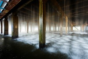 evaporative cooling in a building