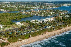 aerial shot of boynton beach florida
