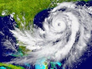 satellite picture of a hurricane over florida