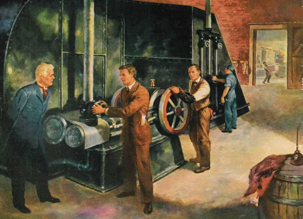 who invented air conditioning vintage painting