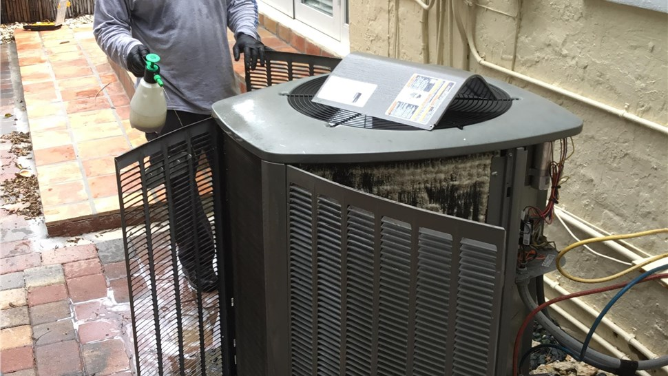 Air Conditioning Unit Maintenance Coil Clean