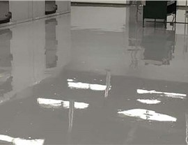 Solid Color Epoxy Floor Finishes Photo 2