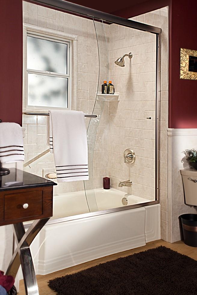 Southern Louisiana Tub To Shower Conversion Bathroom
