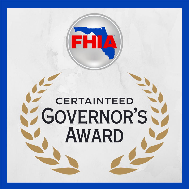 FHIA is Proud to Receive CertainTeed Governor's Award