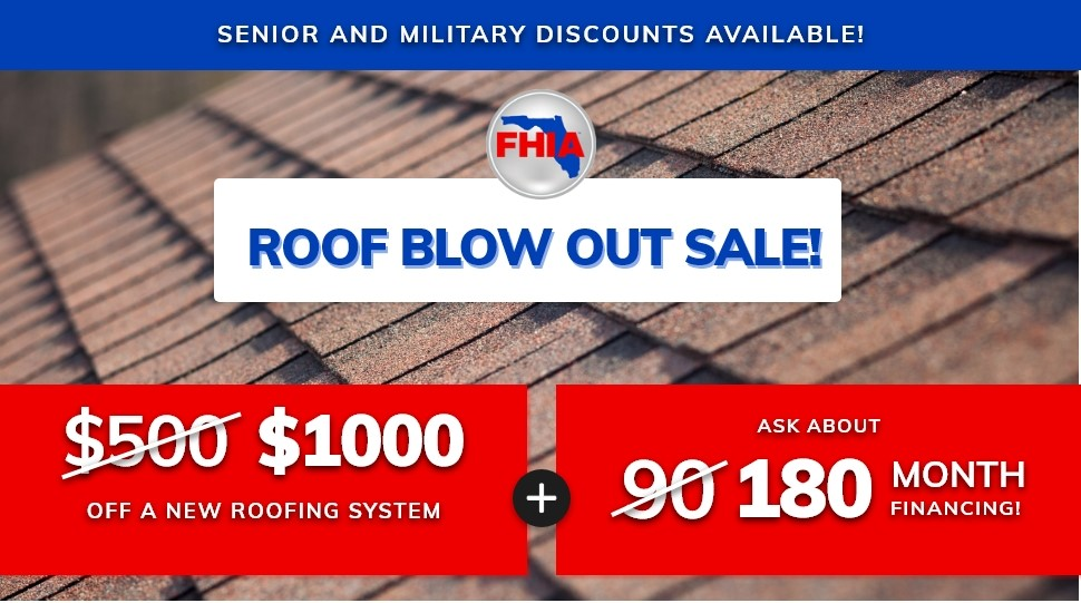 Roof Blow Out Sale!