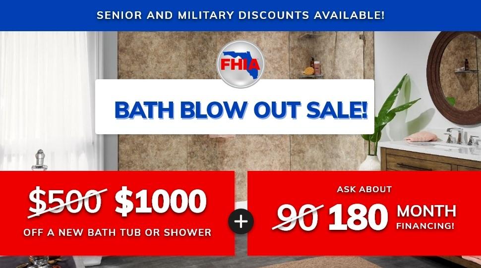 Bath Blow Out Sale