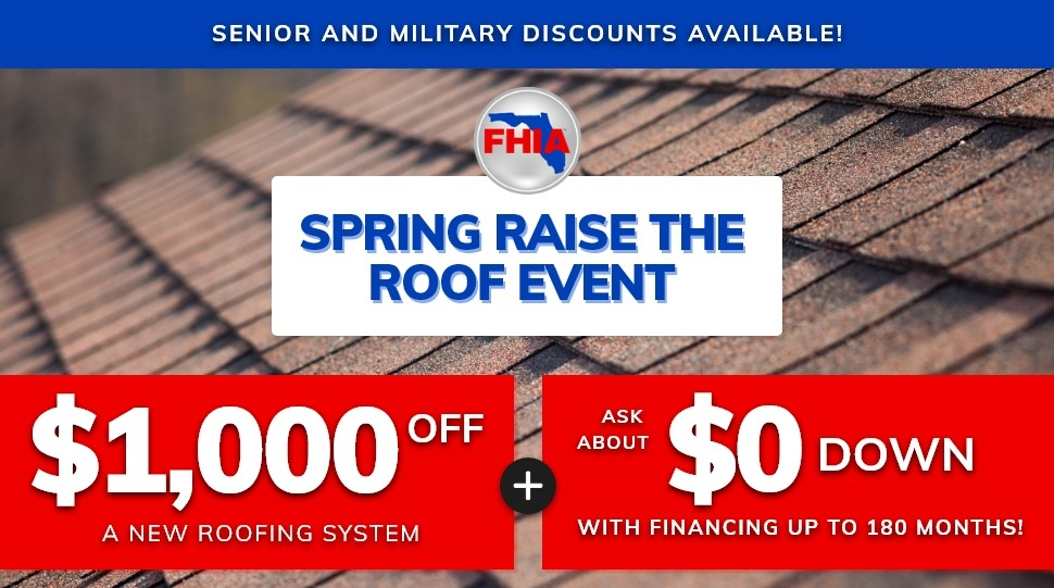 Spring Raise the Roof Event! | Get $1000 off a New Roofing System!