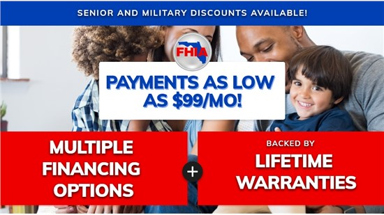Ask about $0 down with financing up to 180 months!