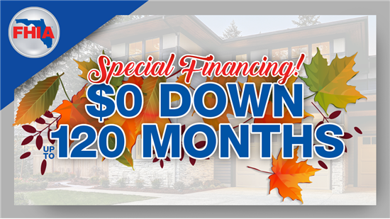 Get 120 Month Financing With $0 Down