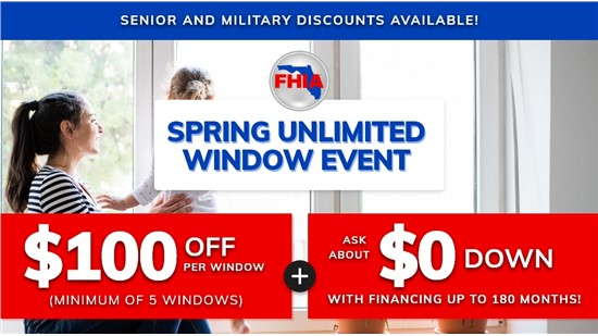 Spring Unlimited Window Event! | Get $100 off Per Window!