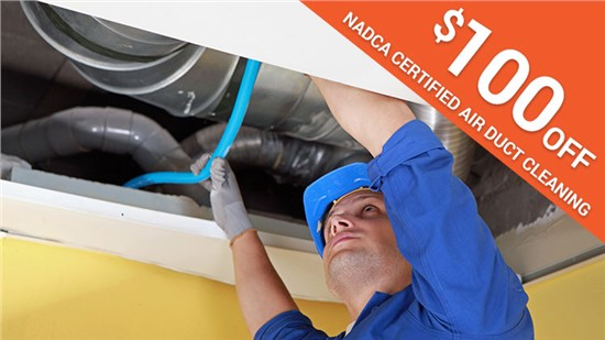 $100 Off NADCA Certified Air Duct Cleaning