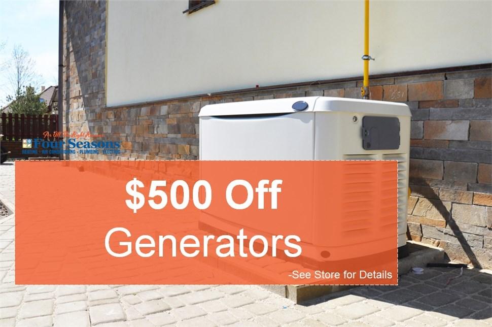 $500 Off Generators
