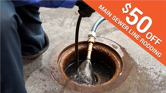 $50 Off Main Sewer Line Rodding