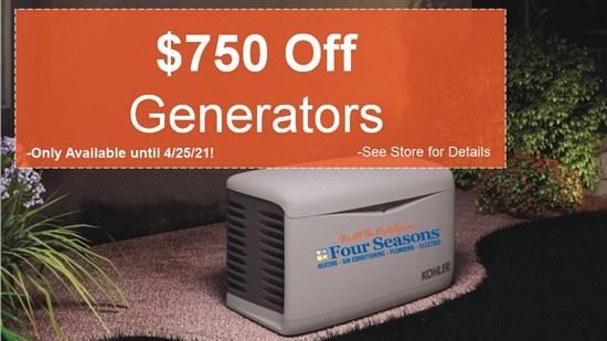 $750 Off Generators