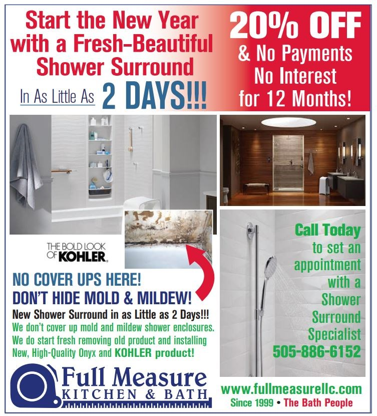 Start the New Year with a new shower surround in as little as 2 days!