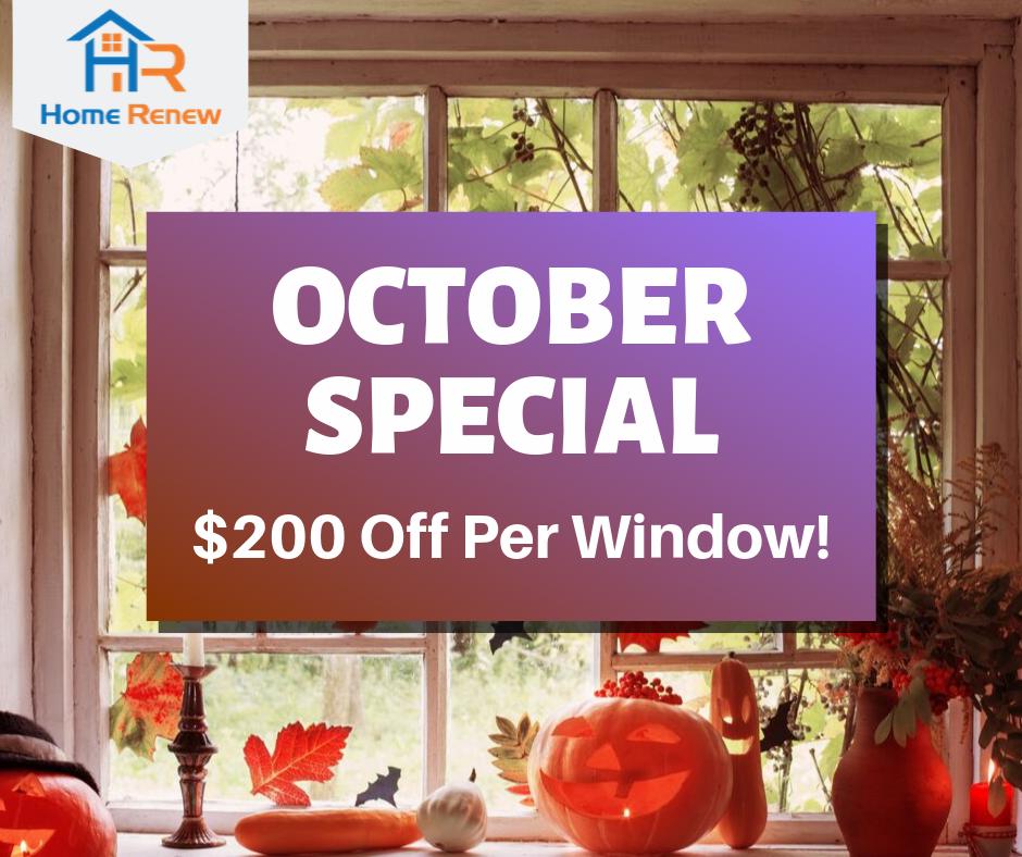 October Window Sale