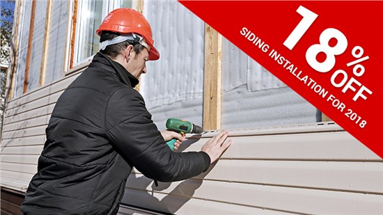 Spring Siding Sale! 18% off Installation!