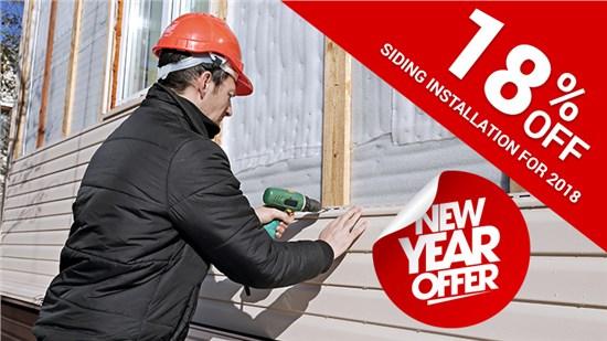 18% off Siding Installation for 2018