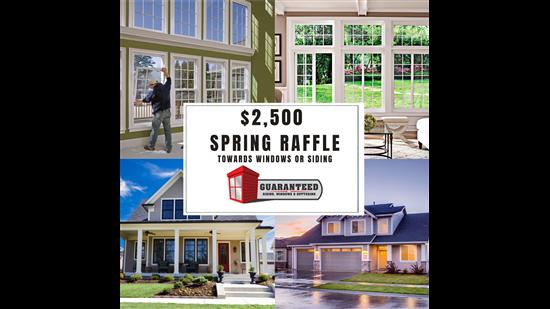 $2,500 Spring Raffle