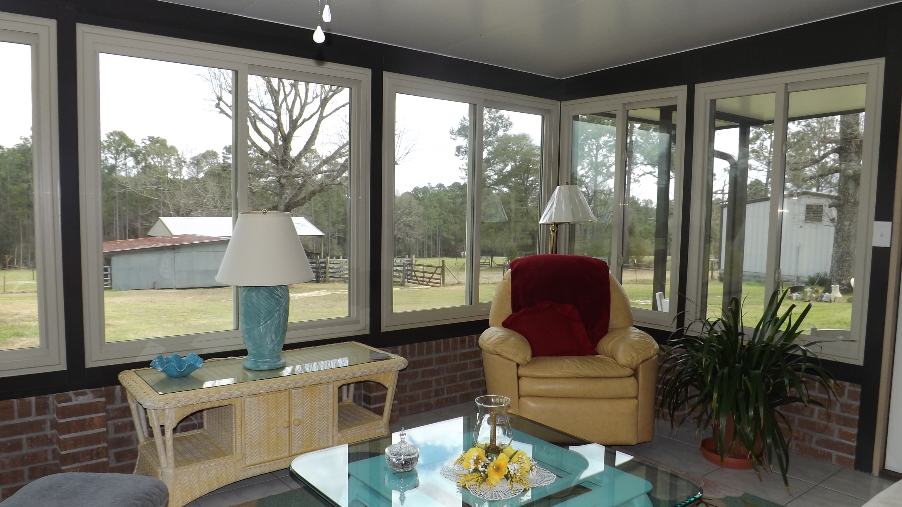 Custom sunroom installation