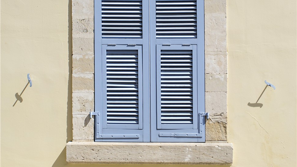 Louvered shutters exterior window shutters replacement shutters for Exterior louvered window shutters