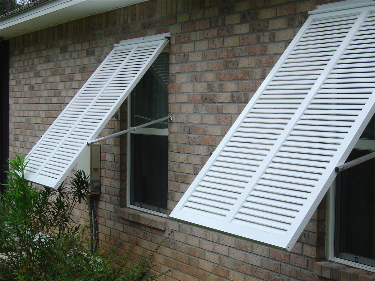 Bahama Shutters Push Out Shutter Company Replacement