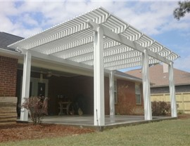 Pergola Contractor in Pensacola, Florida.