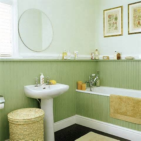 green beadboard bathroom remodel columbus ohio