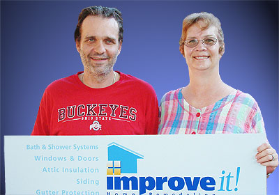 Eric and Sharon Mobley of Columbus, Ohio, 2009 Grand Prize winners in the Improve<em>it!</em> Home Remodeling Home Makeover contest