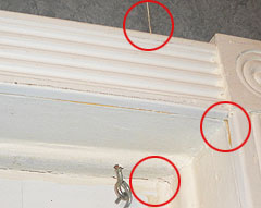 Water from Ice Dams find the path of least resistance. Damage to your home appears as wood separation, pealing wallpaper, and water seepage.