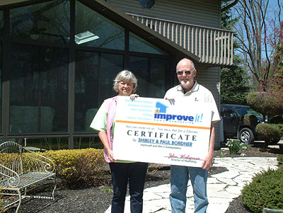 Shirley and Paul Bordner of Pickerington were the 2010 grand prize winners in the Home Improvement Sweepstakes.