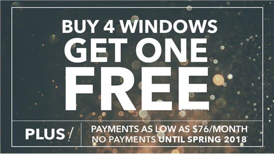 BUY 4 WINDOWS - GET ONE FREE!