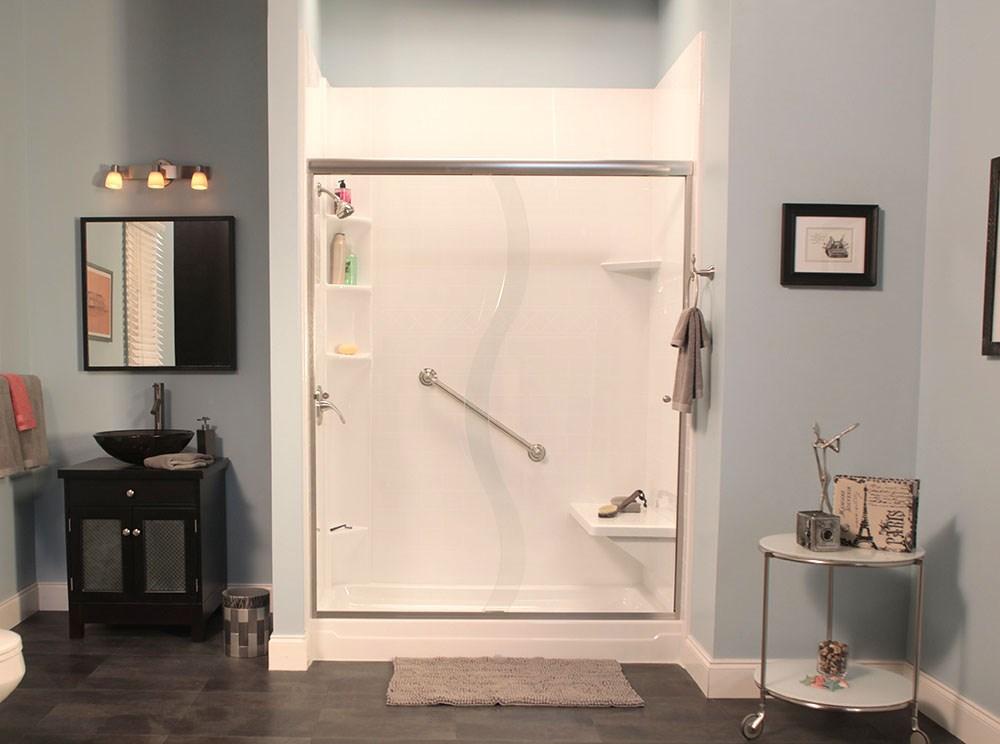Tub to shower conversion cleveland bathroom remodel jr - Bathroom remodel tub to shower conversion ...
