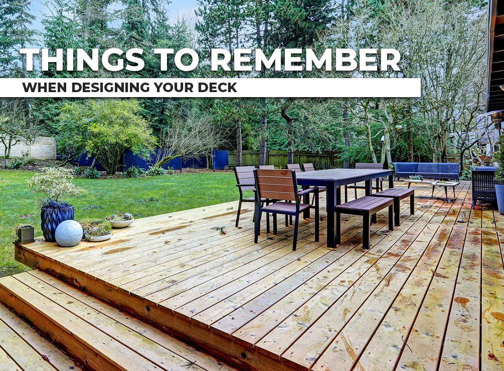 Designing Your Deck